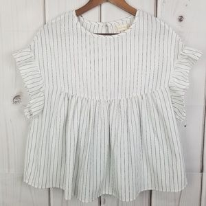 Altar'd State Ruffle Babydoll Top Size Small